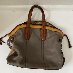 orYANY Cassie Large Pebble Leather Convertible Bag
